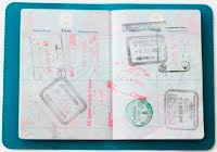 Stamps in Pasport